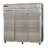 Continental Refrigerator 3RFF-SA 78 inch Solid Door Dual Temperature Reach-In Refrigerator / Freezer / Freezer - 68 cu. ft.