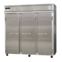 Continental Refrigerator 3RFF-SS 78 inch Solid Door Dual Temperature Reach-In Refrigerator / Freezer / Freezer - 68 cu. ft.