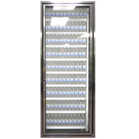 Styleline CL2672-HH 20//20 Plus 26 inch x 72 inch Walk-In Cooler Merchandiser Door with Shelving - Anodized Bright Silver, Right Hinge