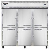 Continental Refrigerator 3RFF-HD 78 inch Half Door Dual Temperature Reach-In Refrigerator / Freezer / Freezer - 68 cu. ft.