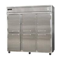 Continental Refrigerator 3RFF-SA-HD 78 inch Half Door Dual Temperature Reach-In Refrigerator / Freezer / Freezer - 68 cu. ft.