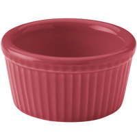 Hall China 30834326 Scarlet 2.75 oz. Colorations Fluted Ramekin - 36/Case