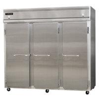 Continental Refrigerator 3RFFE-SS 85 1/2 inch Solid Door Extra-Wide Dual Temperature Reach-In Refrigerator / Freezer / Freezer - 71 cu. ft.
