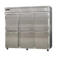 Continental Refrigerator 3RRFE-SA-HD 85 1/2 inch Half Door Extra-Wide Dual Temperature Reach-In Refrigerator / Refrigerator / Freezer - 71 cu. ft.