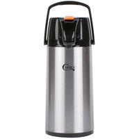 Choice 1.9 Liter Glass Lined Stainless Steel Decaf Airpot with Lever