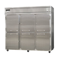Continental Refrigerator 3RRFE-SS-HD 85 1/2 inch Half Door Extra-Wide Dual Temperature Reach-In Refrigerator / Refrigerator / Freezer - 71 cu. ft.