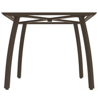 Grosfillex US361599 Sunset 36 inch Square Fusion Bronze Table Base