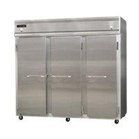 Continental Refrigerator 3RRFE-SS 85 1/2 inch Solid Door Extra-Wide Dual Temperature Reach-In Refrigerator / Refrigerator / Freezer - 71 cu. ft.