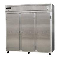 Continental Refrigerator 3RRF-SS 78 inch Solid Door Dual Temperature Reach-In Refrigerator / Refrigerator / Freezer - 68 cu. ft.