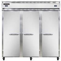 Continental Refrigerator 3RRF 78 inch Solid Door Dual Temperature Reach-In Refrigerator / Refrigerator / Freezer - 68 cu. ft.