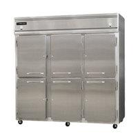 Continental Refrigerator 3RRF-SS-HD 78 inch Half Door Dual Temperature Reach-In Refrigerator / Refrigerator / Freezer - 68 cu. ft.