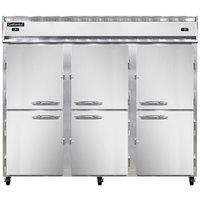 Continental Refrigerator 3RRFE-HD 85 1/2 inch Half Door Extra-Wide Dual Temperature Reach-In Refrigerator / Refrigerator / Freezer - 71 cu. ft.