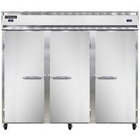 Continental Refrigerator 3RRFE 85 1/2 inch Solid Door Extra-Wide Dual Temperature Reach-In Refrigerator / Refrigerator / Freezer - 71 cu. ft.