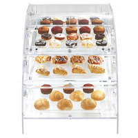 Vollrath XLBC3R-1826-13 Extra Large Acrylic 3 Tray Bakery Case with Rear Doors