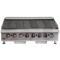 APW Wyott HCRB-2448i Natural Gas 48 inch HD Cookline Lava Rock Charbroiler - 160,000 BTU