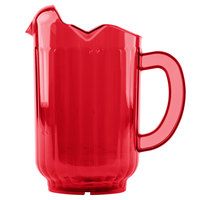 Vollrath 6010-22 Traex® Tuffex 60 oz. Ruby Red Three-Lip Deluxe Beverage Pitcher