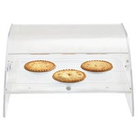 Vollrath XLBC1FR-1826-13 Extra Large Acrylic 1 Tray Bakery Case with Front and Rear Doors