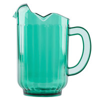 Vollrath 6010-19 Traex Tuffex 60 oz. Margarita Green Three-Lip Deluxe Beverage Pitcher