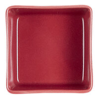 Cardinal Chef & Sommelier S1070 Purity 2 oz. Red Porcelain Square Bowl   - 24/Case