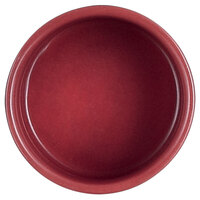 Cardinal Chef & Sommelier S1071 Purity 2 oz. Red Porcelain Circular Bowl   - 24/Case
