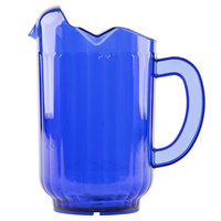 Vollrath 6010-44 Traex Tuffex 60 oz. Cobalt Blue Three-Lip Deluxe Beverage Pitcher