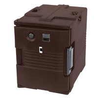 Cambro UPCH400131 Ultra Pan Carrier® Dark Brown Electric Hot Food Holding Cabinet in Fahrenheit - 110V