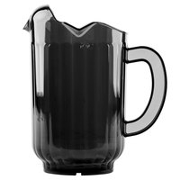 Vollrath 6010-06 Traex® Tuffex 60 oz. Black Three-Lip Deluxe Beverage Pitcher