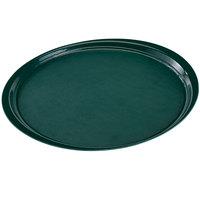 Cambro 1600ET206 EpicTread 16 inch Dark Green Round Fiberglass Non-Skid Tray - 12/Pack