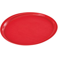 Cambro 1400ET521 EpicTread 14 inch Cambro Red Round Fiberglass Non-Skid Tray - 12/Pack
