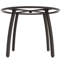 Grosfillex US481288 Sunset 48 inch Round Volcanic Black Table Base