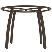 Grosfillex US481599 Sunset 48 inch Round Fusion Bronze Table Base