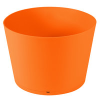 Grosfillex US258283 Tokyo 20 inch Orange Stacking Planter - 3/Pack