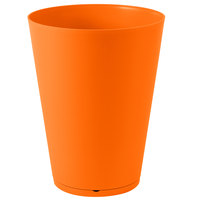 Grosfillex US257283 Tokyo 16 inch Orange Stacking Planter - 3/Pack