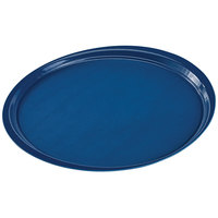 Cambro 1400ET503 EpicTread 14 inch Spanish Blue Round Fiberglass Non-Skid Tray - 12/Pack