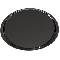 Cambro 1600ET110 EpicTread 16 inch Black Round Fiberglass Non-Skid Tray - 12/Pack