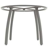 Grosfillex US481289 Sunset 48 inch Round Platinum Gray Table Base