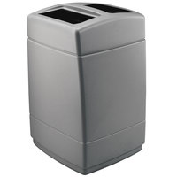 Commercial Zone 732824 PolyTec Series 55 Gallon Charcoal Square Trash Can