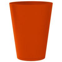Grosfillex US259283 Tokyo 24 inch Orange Stacking Planter