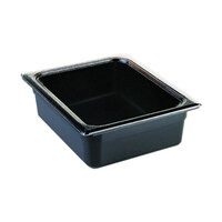 Cambro 22CW110 Camwear 1/2 Size Black Food Pan - 2 1/2 inch Deep