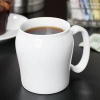 Cambro MDSM8CNL148 Classic White Porcelain Ware 8 oz. Contoured Mug - 48/Case
