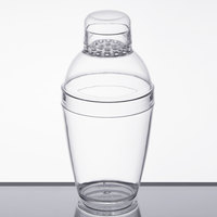 Fineline 4101-CL Quenchers 7 oz. Clear Plastic Shaker - 24/Case