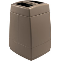 Commercial Zone 732842 PolyTec Series Brown 55 Gallon Square Trash Can