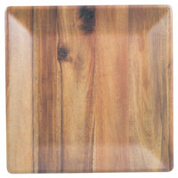 Tablecraft M1414ACA Frostone 14 inch Square Acacia Wood Melamine Tray