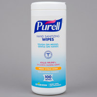 Purell® 9111-12 Sanitizing Wipes 100 Count Canister