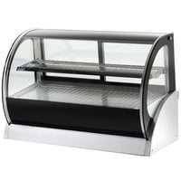 Vollrath 40852 36 inch Curved Glass Refrigerated Countertop Display Cabinet