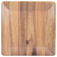 Tablecraft M1717ACA Frostone 16 3/4 inch Square Acacia Wood Melamine Tray