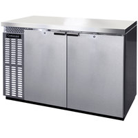 Continental Refrigerator BB50SNSSPT 50 inch Stainless Steel Shallow Depth Pass-Through Back Bar Refrigerator