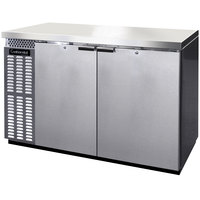 Continental Refrigerator BB50NSSPT 50 inch Stainless Steel Pass-Through Back Bar Refrigerator