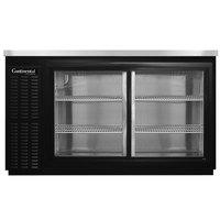 Continental Refrigerator BBC50-SGD 50 inch Black Sliding Glass Door Back Bar Refrigerator