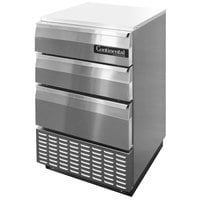 Continental Refrigerator BBUC24S-SS-D 24 inch Stainless Steel Shallow Depth Undercounter Cocktail Refrigerator with 3 Drawers
